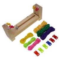Diy gabarito paracord pulseira fabricante de madeira maciça tricô ferramenta nó trançado pára-quedas cabo tecelagem ferramentas pulseira trança dispositivo
