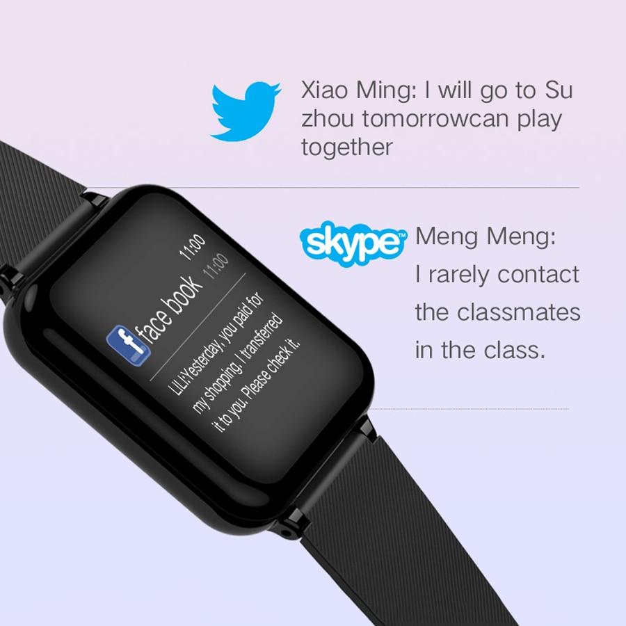 Femmes montres intelligentes étanche PU bande numérique Sport montre Bracelet femmes moniteur de fréquence cardiaque pression artérielle Bluetooth Smartwatch - 5
