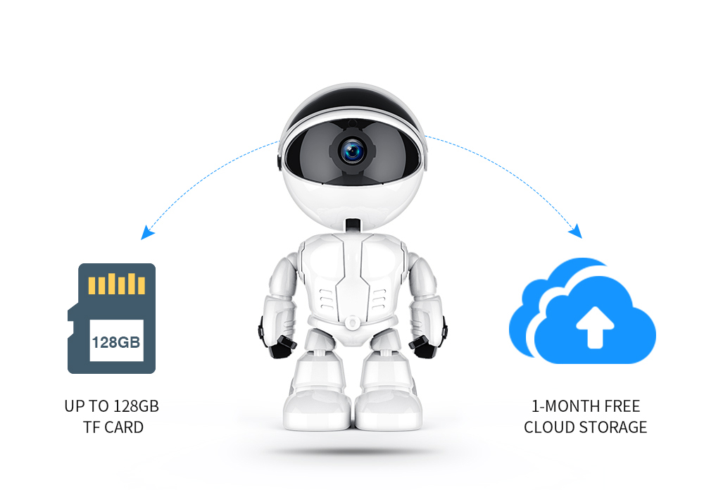 US $21 87 34% OFF|FREDI 1080P Cloud Home Security IP Camera Robot  Intelligent Auto Tracking Camera Wireless WiFi CCTV Camera Surveillance  Camera-in