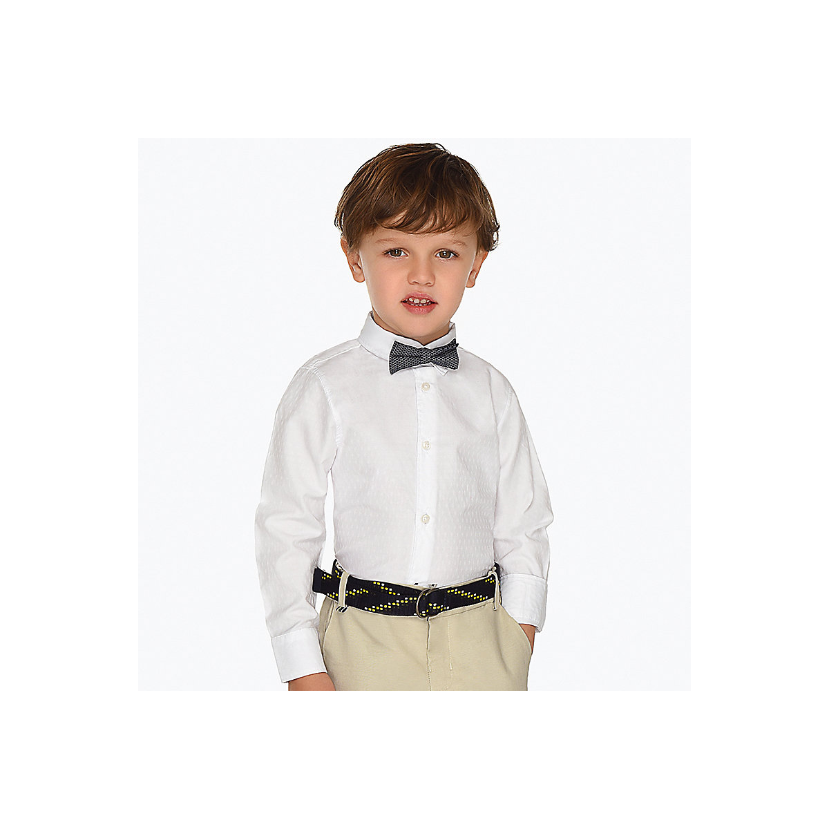 Blouses & Shirts MAYORAL 10691092 Children s Clothing shirt with long sleeve for a boy natural materials