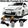 2x samsung chip7440 wy21w carro transformar a luz para o t. o. y. o. t. um prius 2007-2016 Luz de Circulação Diurna DRL & Frente Turn Signal Tudo Em um