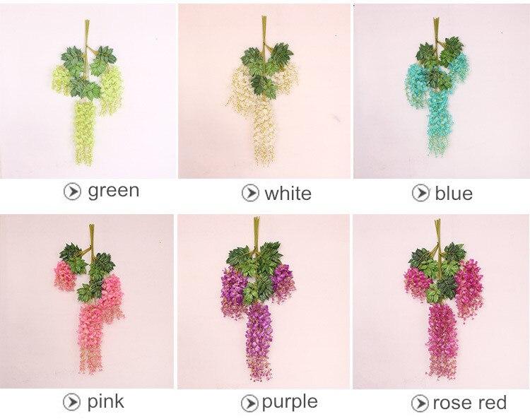 wisteria umjetno cvijeće vjenčanje festival festival dekor cvijeća - Za blagdane i zabave - Foto 4