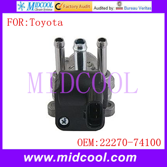 New Auto IAC Fuel Injection Idle Air Control Valve use OE NO. 22270-74100 for Toyota