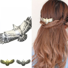 New Fashion Animal Gold Color Eagle Wings Hair Accessories for Women Folk-custom Charming Silver Clips Female