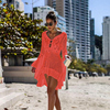Long Sleeved Pareo Crochet Beach Cover Up 8