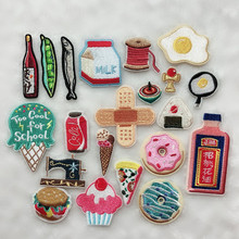 10pcs/lot Cute Bandage Milk Egg Patches for Clothes Embroidery Iron On Applique For Bag Dress Cheap DIY
