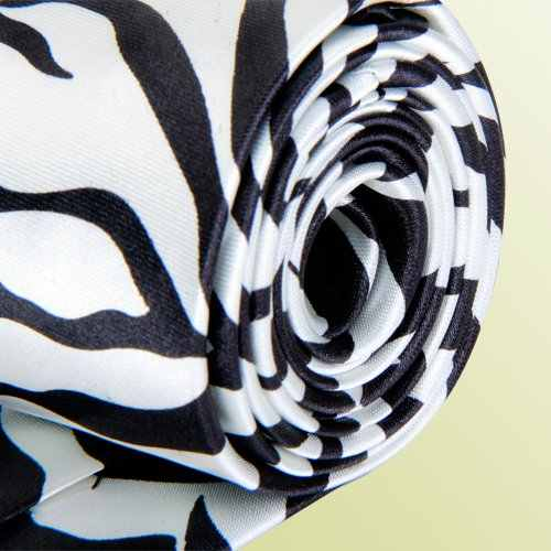 Mytl Unisex Casual Cravatta Skinny Slim Narrow Neck Tie-Zebra