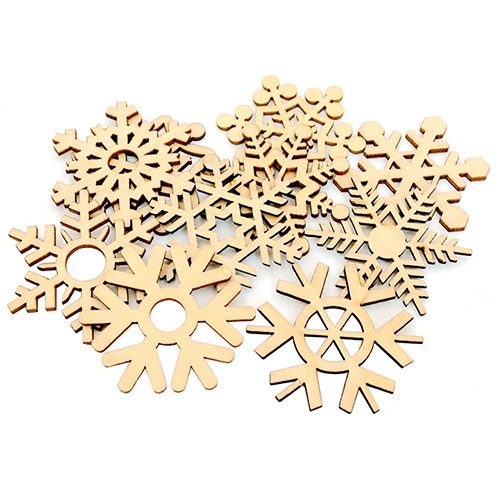 Arts,crafts & Sewing New 50pcs Christmas Holiday Wooden Collection Snowflakes Buttons Snowflakes Embellishments 18mm Creative Decoration Fixing Prices According To Quality Of Products Buttons
