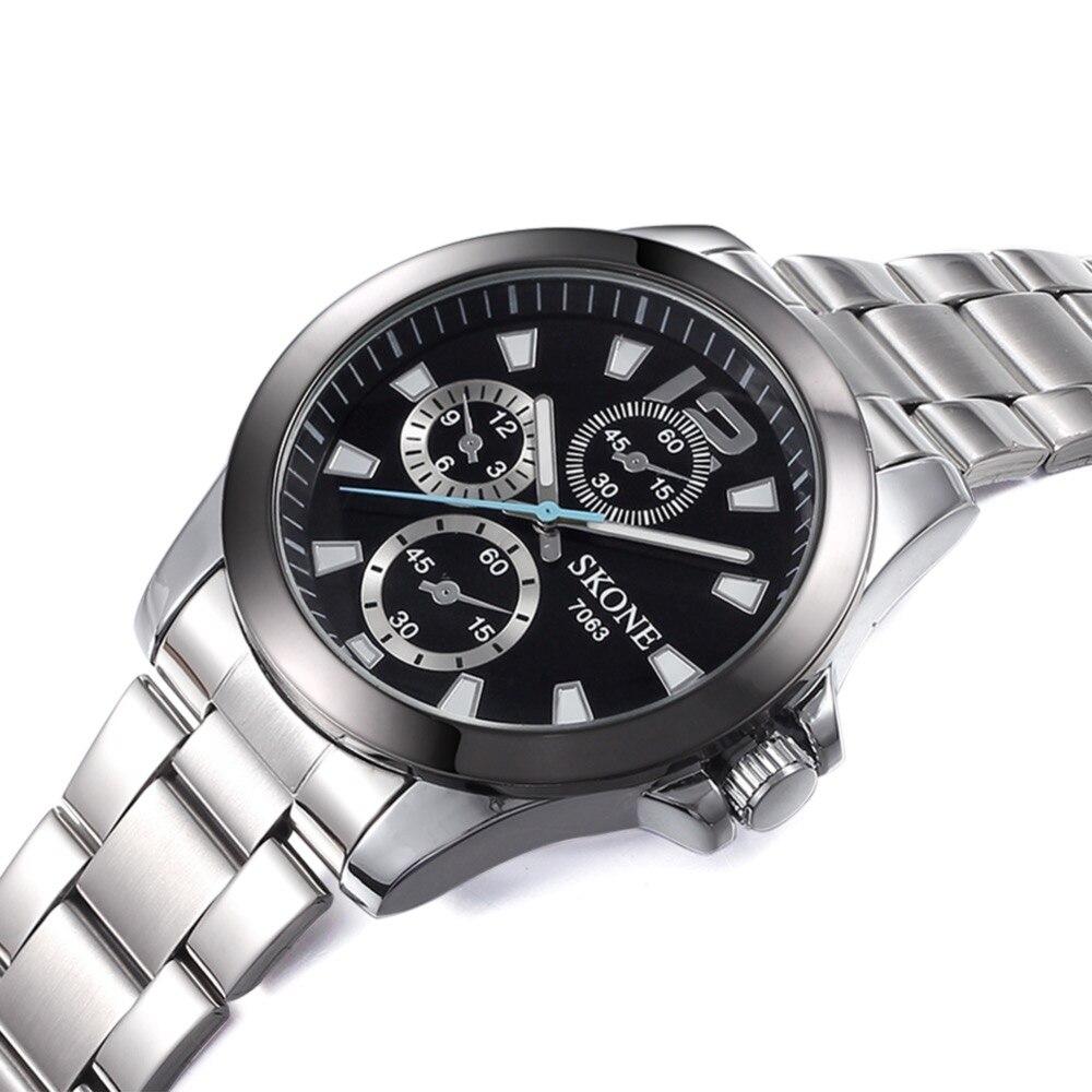 SKONE Luxury Brand Mens Watches Women Dial Luminous Watches Ladies Original Japan Move Quartz Watches Female Dress Watch Clock