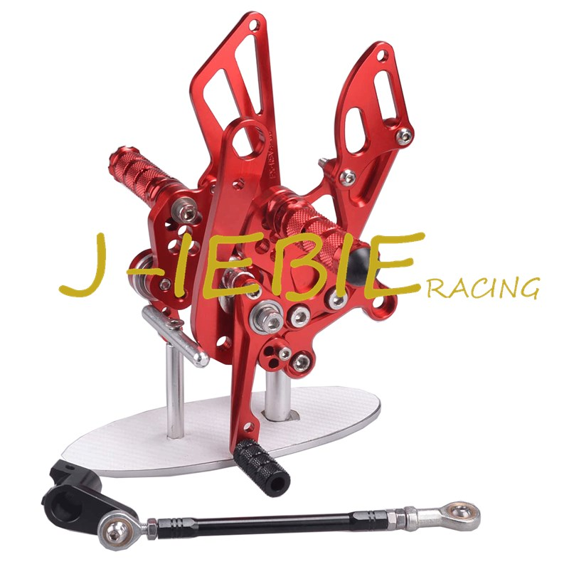 CNC Racing Rearset Adjustable Rear Sets Foot pegs Fit For Aprilia RSV4 RSV4R Tuono V4 R 2009-2016 RED titanium cnc aluminum racing adjustable rearset foot pegs rear sets for yamaha mt 07 fz 07 mt07 fz07 2013 2014 2015 2016