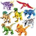 8 unids/lote Jurrassic Mundo Parque de Los Dinosaurios Modelos Building Blocks Establece Juguetes Compatible con Lepin