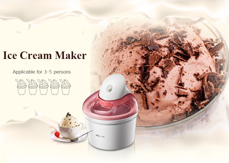 1.2L Ice Cream Machine Household Automatic Ice Cream Machine Mini Fruit Ice Cream Maker Electric DIY Ice Cream Maker BQL-A12G1