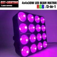 4pcs/lot Musical instruments 16x30W COB 3in1 RGB led matrix blinder light for dj nightclub stage lighting