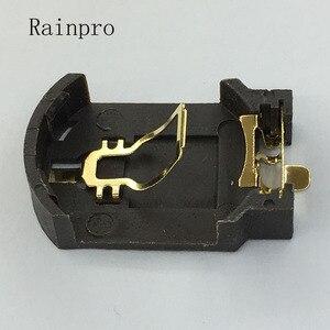 Image 3 - Rainpro 10 cái/lốc BS 8 CR2032 CR2025 vàng mạ nút pin chủ 2032 Hộp Pin Ổ Cắm Trường Hợp