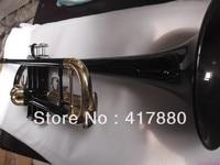 Verkoop fabrikant YTR-1335-B zwart-goud gebonden trompet instrument oppervlak
