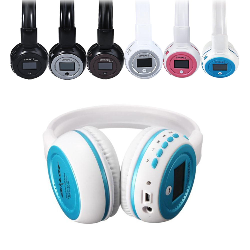 Multi-Functional Wireless Headphone With LCD Screen Build-in HD MIC Foldable Design Earphone Bluetooth+FM Radio+TF Card Slot MP3 multi functional bluetooth car kit wireless fm transmitter
