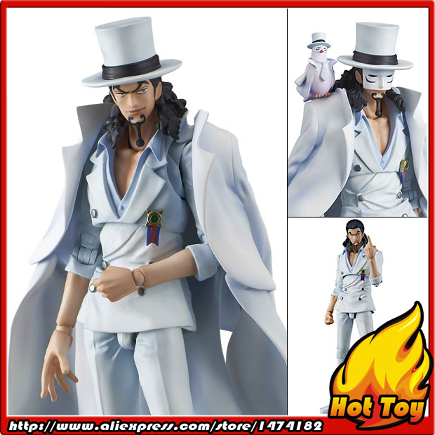 100% Original MegaHouse Variable Action Heroes (VAH) Action Figure - Rob Lucci from ONE PIECE japanese anime one piece original megahouse mh variable action heroes vah action figure portgas d ace
