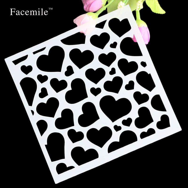 Diy Craft Heart Layering Stencils For Walls Painting Scrapbooking
