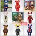 """11 """" 28 cm 400% bearbrick Iron man Bape Ted 2 moda lindo @ rick Medicom juguete de regalo para los amigos decoración del hogar"""