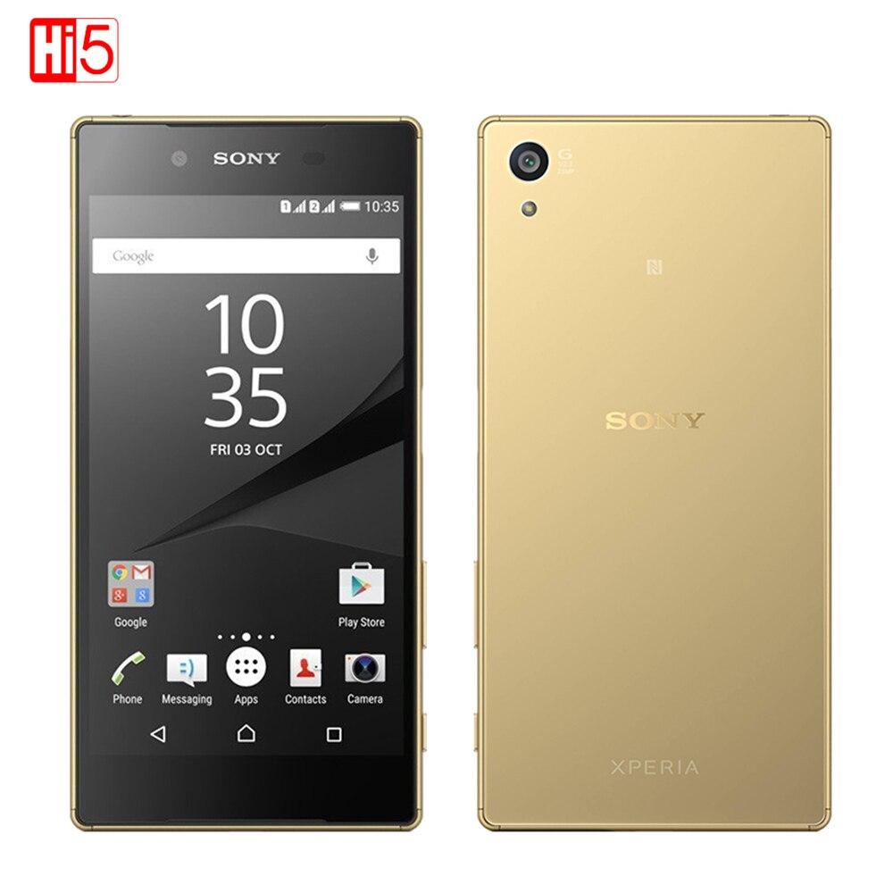 Desbloqueado Sony Z5 Premium Octa Core 23.0MP cámara del teléfono móvil 5,5 ''IPS Single/Dual SIM Android 4G FDD-LTE 3430 mAh huella digital