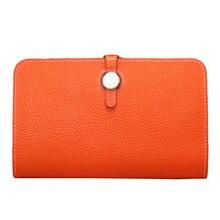Luxury Genuine 2017 Female Designer Famous Brand Women Clutch Wallet Ladies Leather Purse Money Bag