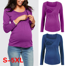 ec72d7a5bfb14 Women Pregnancy Clothes Maternity Clothing Breastfeeding Tee Nursing Tops  Striped Short Sleeve T-shirt Plus