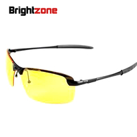Sale New 2017 Mens Polarized Driving Sunglasses Hot Selling Brand Yellow Lense Night Vsion Driving Glasses Goggles Reduce Glare