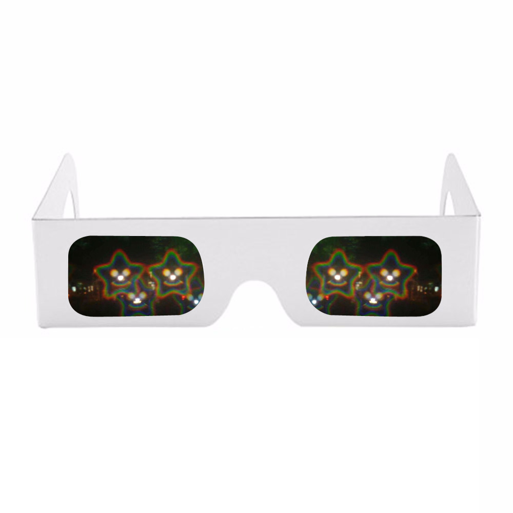 Dashing 50x Cheap Paper Frame Spirals/13500 Lines 3d Diffraction Rainbow Gratings Glasses For Fireworks Edm Rave Prisms Laser Shows Structural Disabilities 3d Glasses/ Virtual Reality Glasses Vr/ar Devices