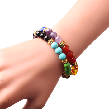 CAMDOE DANLE 7 Chakra Stone Bracelet Natural Beads Healing Reiki Prayer Buddha Beads Bracelet Men Charms Yoga Bracelet For Women 5