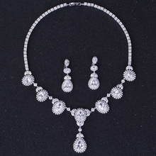 DOKOL Sparkling Oval Shape AAA+ Cubic Zirconia Bridal Jewelry Sets Exquisite Silver Color Wedding Party Jewelry bijoux DKS0026