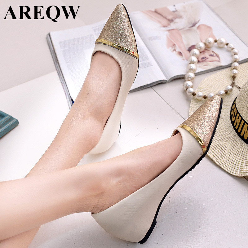 Fashion Women Shoes Pointed Toe Slip-On Flat Shoes Woman Comfortable Single Casual Flats Size 35-40 zapatos mujer size 32 43 fashion women s flat shoes women slip on round toe square heel flats laies simple casual sweet lace zapatos mujer