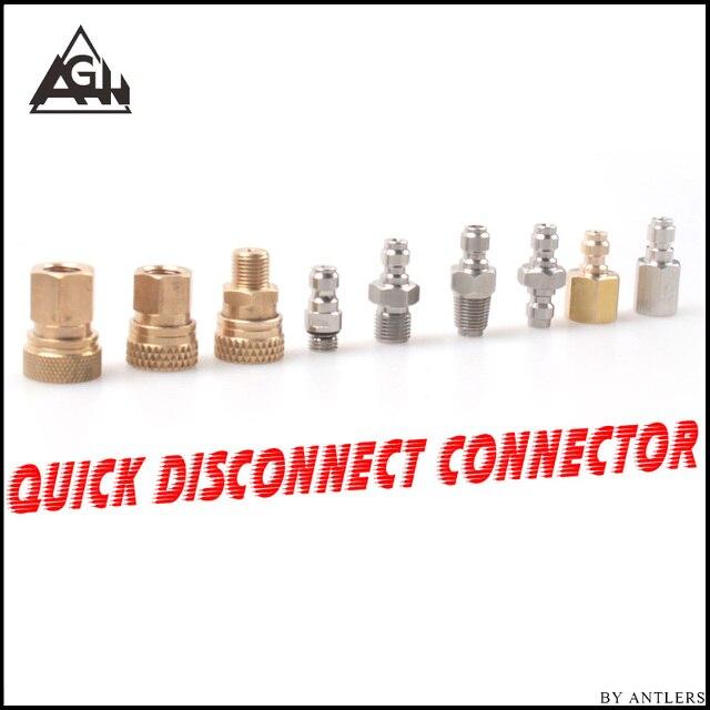 8 Mm Plug Adapter Fittings Pcp Airsoft Paintball Pneumatische Snelkoppeling Vullen Tepel Man Vrouw 1/8 Bsp 1/8 Npt M10 * 1X2 Pcs
