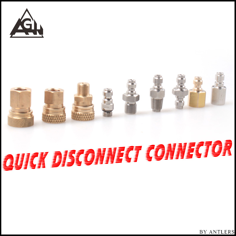 8MM Plug Adapter Fittings PCP Airsoft Paintball Pneumatic Quick Coupler Filling Nipple Male Female 1/8 BSP 1/8 NPT M10*1 X2PCS