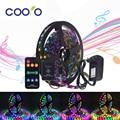 5 m WS2811 Digital LED tira 12 V Dream Color 30 ledes/60 ledes RGB LED tira de luz conjunto con controlador de música adaptador de corriente