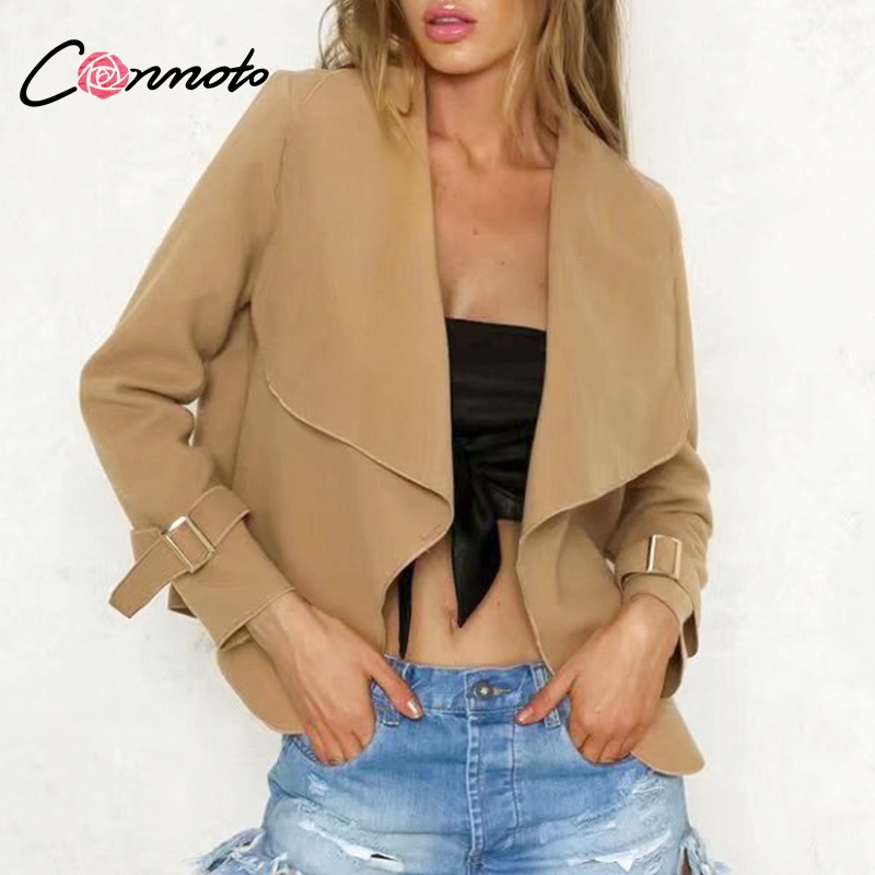 Conmoto Short Wool Blend Woman Coats 2018 Camel Ladies Winter Jacket Coats Open Stitch Wool Coats Casaco Feminino