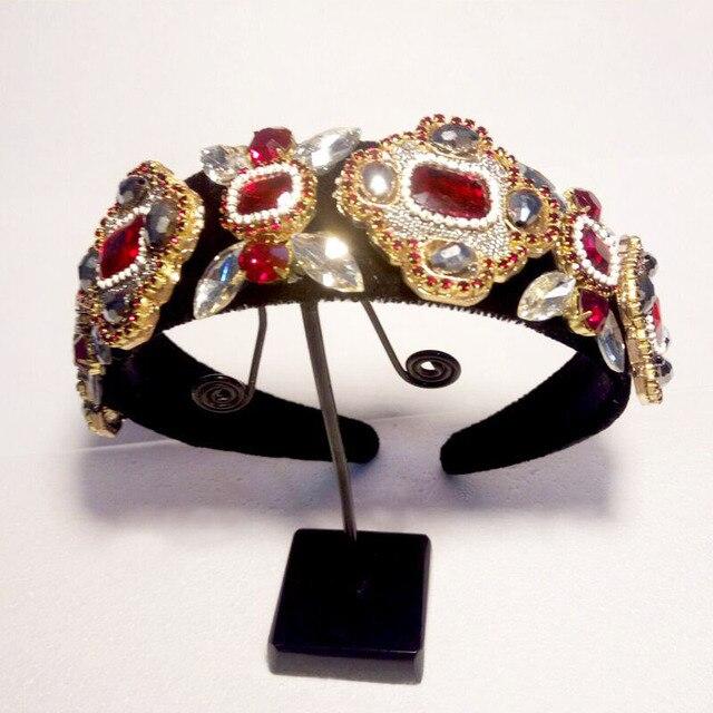 4 см широкая повязка на голову тиара корона в стиле барокко