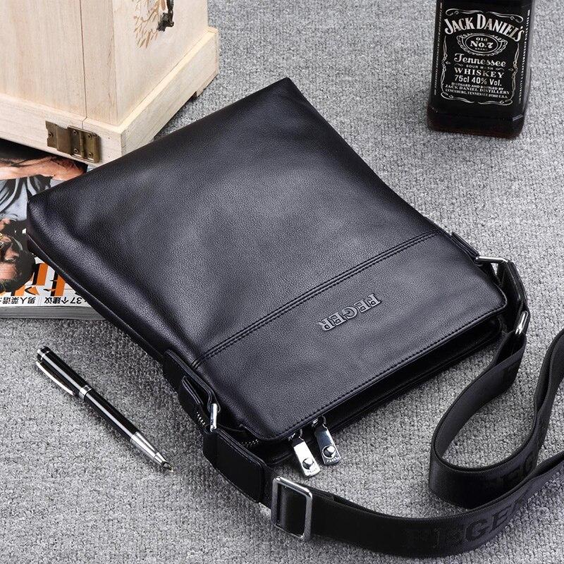FEGER New Arrival Genuine Leather Men Bag Business Messenger Bag Shoulder Bag for Men Free Shipping shoulder bag