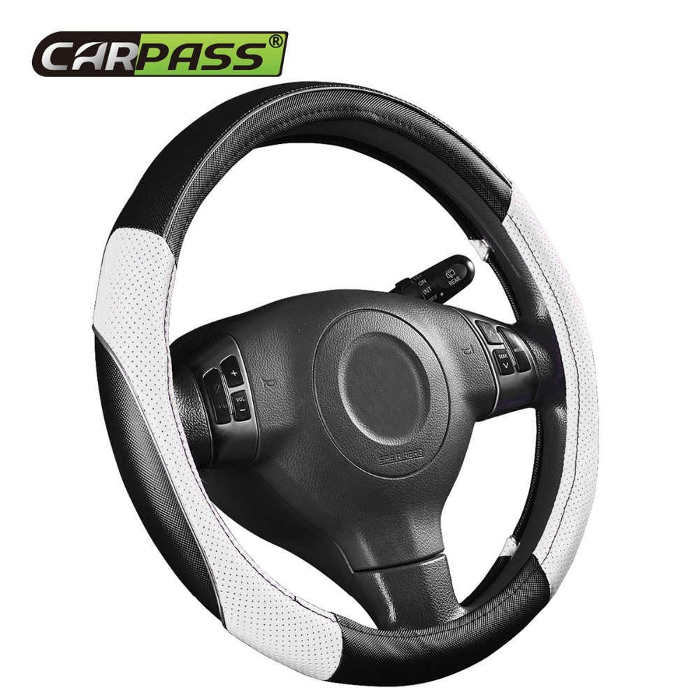 CAR PASS alfombrillas de coche de cuero negro antideslizante resistente al agua