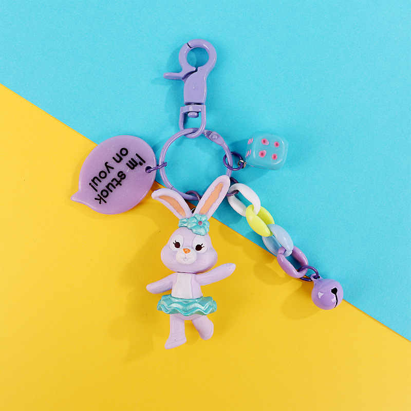 Chaveiros bonitos Para As Mulheres Chave Cap Tampa Da Caixa Dos Desenhos Animados Anime Silicone Mickey Ponto do anel Chave Chaveiro Urso Moda Jóias presente