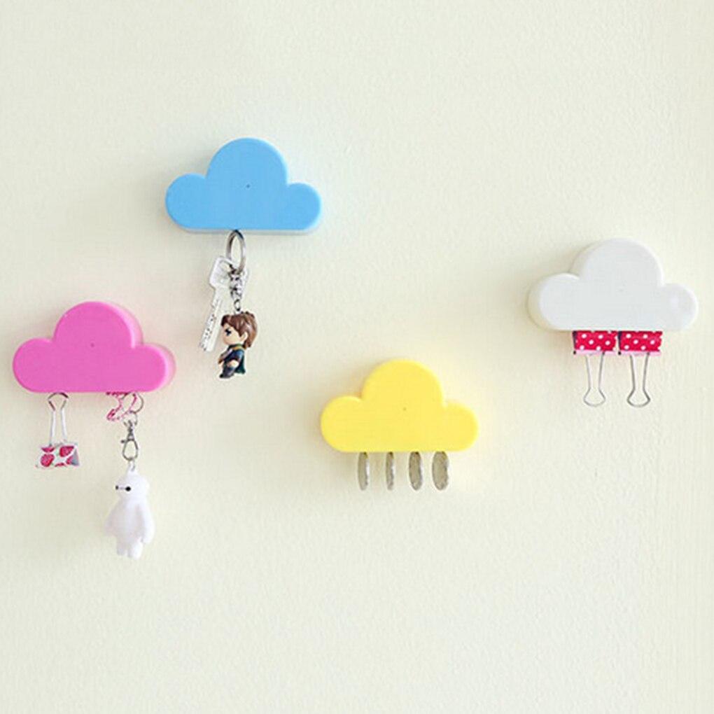 Hot Cloud Shape Key Holder Wall Key Storage Organizer Strong Key Rack Hanger Key Ring Hooks Securely