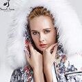 Botas de neve de inverno Clássico das Mulheres para baixo casaco 2016 Guaxinim Verdadeira Gola De Pele Casaco Com Caixilhos Mulheres casaco de inverno mulheres 169a
