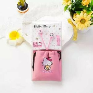 Image 5 - Cute Lovely Cartoon Pink Hello Kitty 3.5mm In Ear Stereo Earphones Hellokitty Earbud With Microphone For Phones With Storage Bag