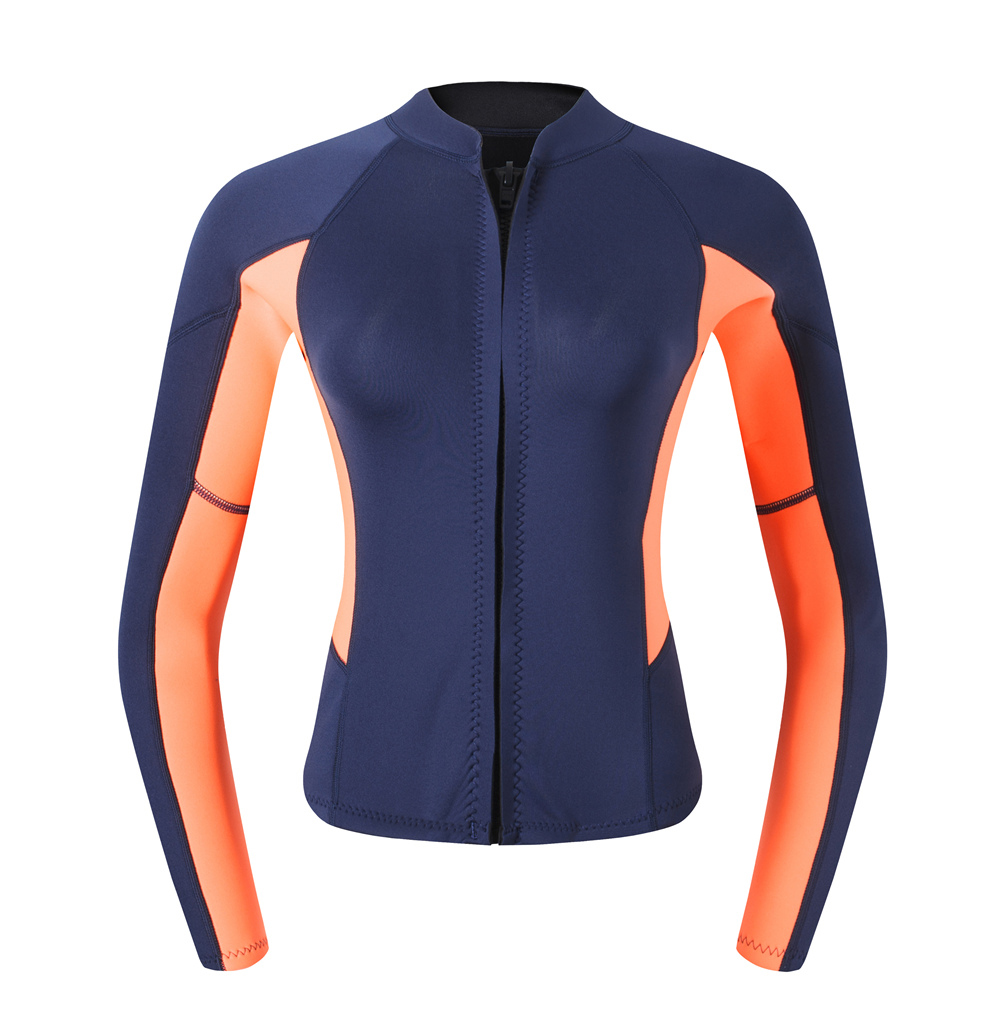One Piece 2MM Neoprene Thick Wetsuit Women's Long Sleeve Rash Guard Wakeboard
