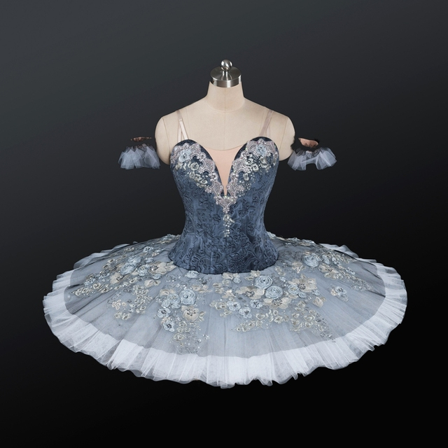 Adult Ballet Costumes Gray Skirt Cinderella Stage Wear For ...