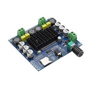 Image 5 - TDA7498 Bluetooth Verstärker Audio Board 2x50 W Stereo Digital Power Verstärker Modul Unterstützung Tf karte AUX Für Hause theater