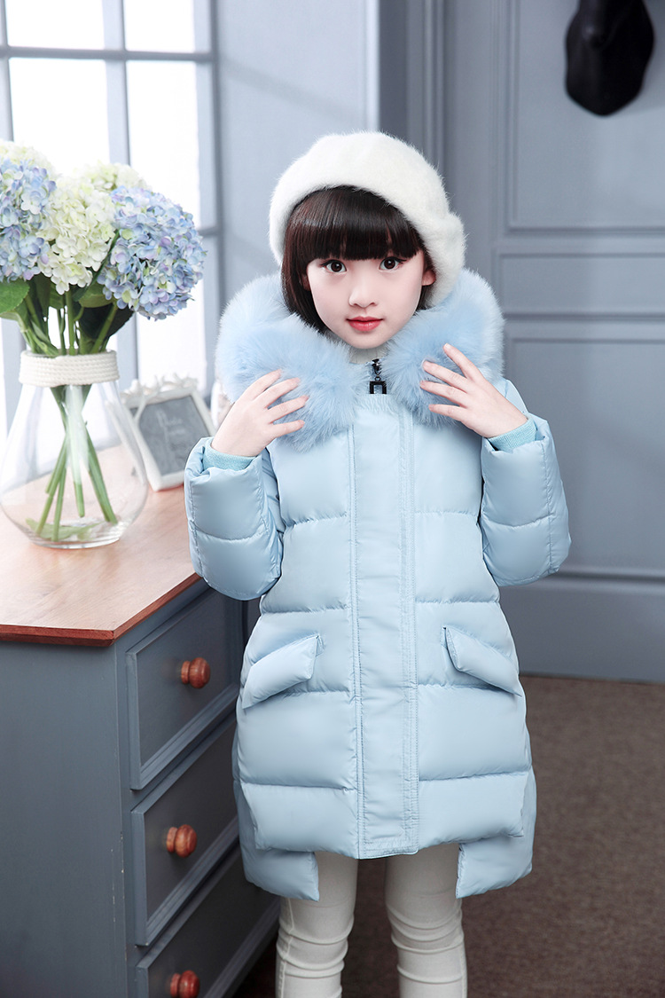 2016 Fashion Girl'S Down Jackets/Coats Winter Russia Baby Coats Thick Duck Warm Clothing Children Outerwears -30Degree Jackets fashion boys down jackets coats for winter warm 2017 baby boy thick duck down coat real fur children outerwears for cold winter