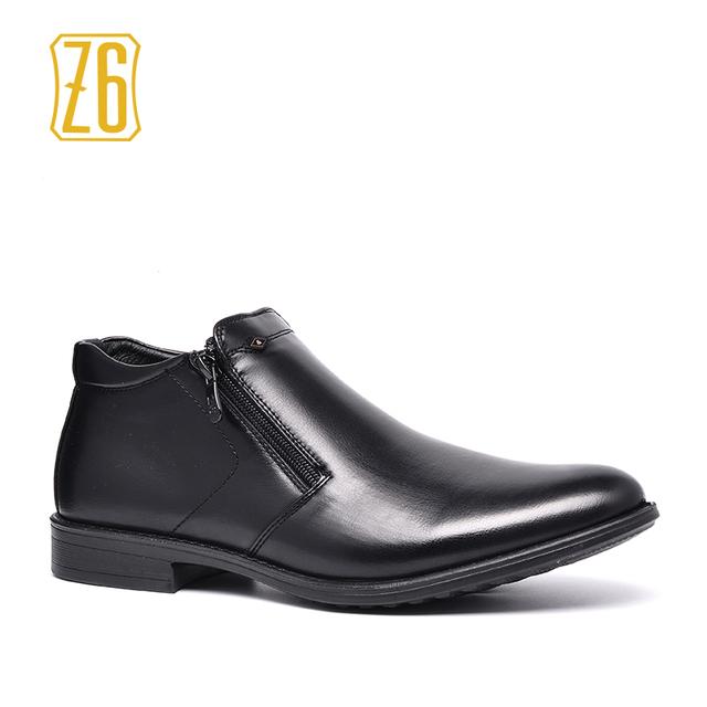 Z6 Marca botines Tamaño 39 ~ 44 2017 Otoño Masculino de Cuero Zapatos # R5382