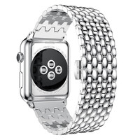 Stainless Steel Wrist Strap For Apple Watch 38mm 42mm Metal Watch Band Replacement Bracelet For Apple