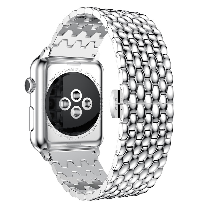 Stainless Steel Wrist Strap For Apple Watch 38mm 42mm Metal Watch Band Replacement Bracelet For Apple iWatch Series 1, Series 2