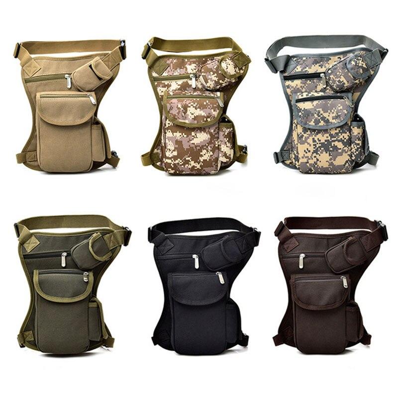 Hot Selling Men Women Drop Leg Bag Canvas Multi-Pocket Cycling Waist Pouch Outdoor Sports Casual Bags -B5